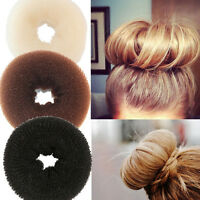 3 size Hair Bun Wraps black brown blonde Donut Large Small Shaper Styler Maker M