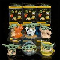 6pcs/set Movie Mandalorian Baby Yoda PVC Figure Model Toy New