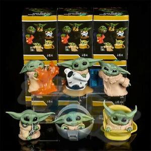 6pcs/set Movie Mandalorian Baby Yoda PVC Figur Modell Spielzeug Neu