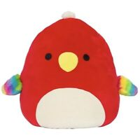 "Kellytoy Squishmallow 8"" Paco The Red Parrot  Super Soft Plush Nwt"