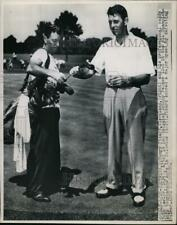 1950 Press Photo Golfer Henry Picard and caddy John Lawlor at PGA Championship