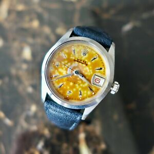 """A MEGA RARE VINTAGE 1953 ROLEX OYSTER TROPICAL """"""""STAR"""""""" DIAL REF. 6266 RED DATE"""