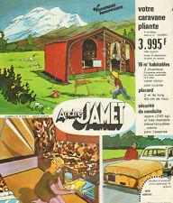 Publicité 1975  ANDRE JAMET  caravane pliante