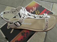 NEW SKECHERS BAREFOOT WHITE SANDALS WOMENS 6 STRAPPY FLATS FREE SHIP