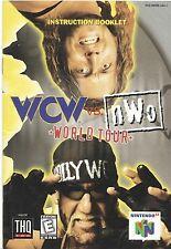 Nintendo 64 WCW vs. nWo World Tour Instruction Booklet Manual