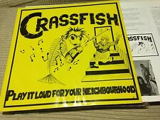 "CRASSFISH -PLAY IT LOUD FOR YOUR NEIGHBOURHOOD 12"" LP NASTY VINYL 92 GERMAN PUNK"