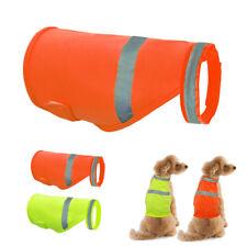 High Visibility Reflective Dog Safety Vest Visible Coats Florescent Jacket S M L