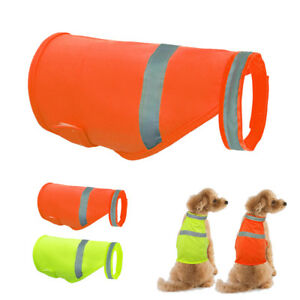 High Visibility Reflective Dog Safety Vest Visible Coats Florescent Jacket S M L