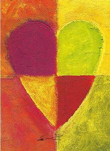 Kunstpostkarte - With Love! Liebe Grüße! Du fgond du coeur!