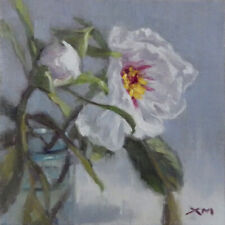 """""""Peonies"""" original fine art still life floral oil painting by Xiaomei Griffiths"""