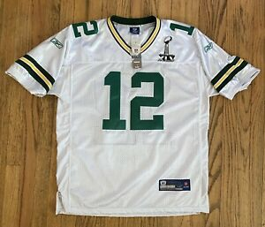 Superbowl XLV NFL Onfield Jersey Green Bay Packers Aaron Rodgers Reebok - NWT 52