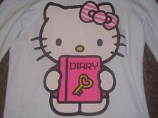 OLD NAVY COLLECTIBLES HELLO KITTY DIARY T-SHIRT GIRL'S M medium BABY BLUE L/S