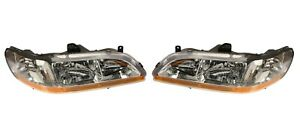 NEW Left & Right Genuine Headlights Headlamps Pair Set For Honda Accord 01-02