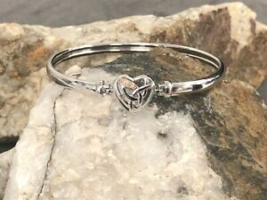 Official Welsh Clogau Gold Silver & Rose Gold Eternal Love Bangle £80 OFF!