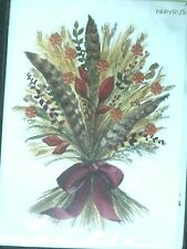 Papyrus Thanksgiving Card - Autumn Harvest with Gold embossing & little flowers