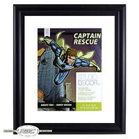 "Comic Book & Magazine Float Frame (11"" x 13"") - Double-Glass Panes w/Black Frame"