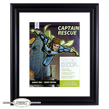 "Comic Book & Magazine Float Frame (11"" x 13"") - Double-Glass Panes w/Black Frame"