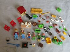 Lot of Playmobil figures animals and accessories farm