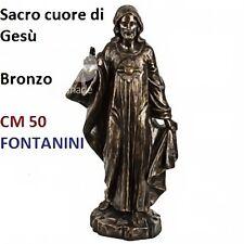 Statua religiosa FONTANINI sacro cuore di gesù color bronzo cm 50 in resina