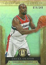 EMEKA OKAFOR 2012-13 Panini Gold Standard Base Card #136 #/349 Wizards N13