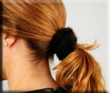New Black Mink Fur Scrunchy Efurs4less
