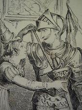 1834 PRINT BARTOLEMEO PINELLI ~ DON QUIXOTE SPURS SWORD DONA TOLOSA & MOLINERA