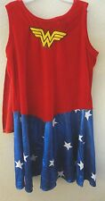 girls size large Halloween Costume Justice League Dress Cape Belt Boot Covers @