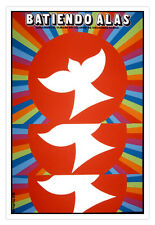 """Cuban movie Poster 4""""Flapping WINGS""""Cuba film.Dove art.World Graphic Design"""