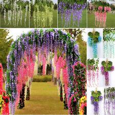 1/3/12x Artificial Fake Flower Garland Vine Wisteria Leaf Hanging Wedding Decor