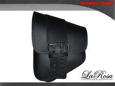 La Rosa Black Leather Solo Strap Harley V Rod Night Rod Left Solo Saddle Bag
