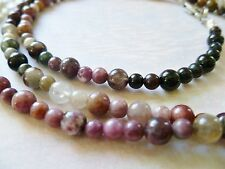 TOURMALINE Smooth Polished  *REAL STONE* Necklace 5mm size & Bracelet 4mm size