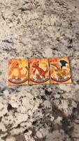 Pokémon Cards- x3Topps Complete Evolution Set:Charmander, Charmeleon & Charizard