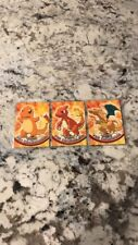 Pokémon Cards- x3Topps Complete Evolution Set:Charmander, Charmeleon & Charizard