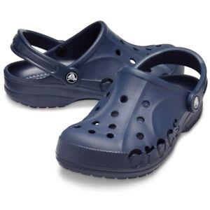 Crocs Baya Navy Blue Clogs Slip On Classics Slide Sandals Comfy 10126-410 New