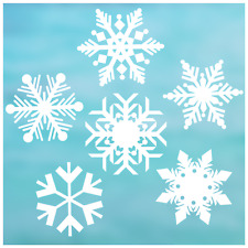 "6 Snowflake Pack of 6"" Snowflake Window Clings"