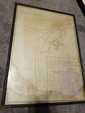 Vintage 1907 Copy Of 1830 Map Fort Augusta Sunbury Pennsylvania Susquehanna