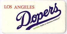 Los Angeles Dopers (Dodgers) Sticker Parotee Marijuana Collectible Funny Decal