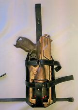 Adjustable Steampunk Faux Leather Skeleton Holster Fits Many Nerf Guns/Blasters
