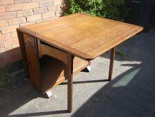 1930's/40's Dark Oak Gateleg Dining Table, 152cm x 91cm max top size