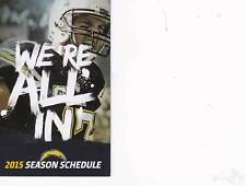 San Diego Chargers NFL Mini Pocket Schedule 2015 Phillip Rivers