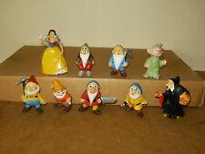 Ensemble 9 anciennes figurines série BLANCHE NEIGE - marque JIM (WDP) années 60
