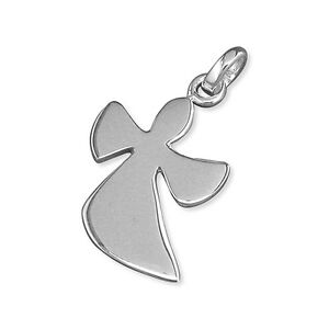 Silver Contemporary Angel Pendant and Chain