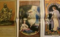 1921 1922 1945 Sacred Art Calendars Painting Art Work Advertising Angel Jesus