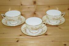"""Minton Gold Pandora H5230 (3) Cups, 2 3/8"""" & (3) Saucers, 5 3/4"""""""