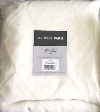 NEW W DEFECT Madison Park Window Scarf Irina 50x216 In Embroidered Diamond White