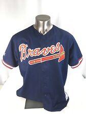 VTG 90s Majestic Atlanta Braves MLB Short Sleeve Men's  XXL USA Jersey VG
