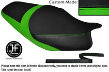 Vinilo Negro Verde Claro Personalizado Para Kawasaki ZZR 1400 ZX14R 12-14 Doble Cubierta de asiento