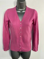 WOMENS DOROTHY PERKINS SIZE UK 8 PINK KNITTED BUTTON UP CASUAL CARDIGAN JUMPER