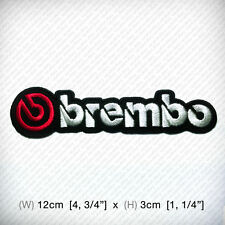 New Brembo Embroidered Patch Iron on, sew, RACING Sports Automotive brake system
