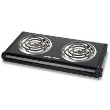 Black Decker Electric Double Burner Hotplate Hotplates Hot Plate Burners Stove